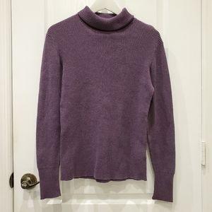 OldNavy Exclusive Purple Ribbed Turtleneck Sweater